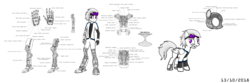 Size: 1280x425   Tagged: safe, artist:atomsci, oc, oc only, cyborg, human, equestria girls, adventurer, atom, blueprints, male, medic, original character do not steal, overseer, science, science fiction, scientist, simple background, teleportation, trader, white background, wormhole