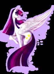 Size: 1837x2480 | Tagged: safe, artist:oneiria-fylakas, oc, oc only, oc:twily star, alicorn, pony, alicorn oc, female, mare, simple background, solo, transparent background