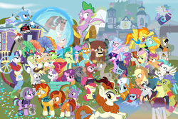 Size: 1800x1200 | Tagged: safe, artist:dm29, apple bloom, apple rose, applejack, auntie applesauce, autumn blaze, big macintosh, chancellor neighsay, cozy glow, crackle cosette, derpy hooves, discord, firelight, flam, flim, fluttershy, gallus, goldie delicious, granny smith, jack hammer, lightning dust, lord tirek, maud pie, mudbriar, ocellus, pinkie pie, princess celestia, rainbow dash, rarity, rockhoof, sandbar, scootaloo, silverstream, sludge (dragon), smolder, spike, spitfire, starlight glimmer, stellar flare, sugar belle, sunburst, sweetie belle, terramar, trixie, twilight sparkle, yona, alicorn, centaur, changedling, changeling, classical hippogriff, draconequus, dragon, earth pony, griffon, hippogriff, kirin, pegasus, pony, seapony (g4), unicorn, yak, a matter of principals, a rockhoof and a hard place, fake it 'til you make it, father knows beast, friendship university, grannies gone wild, horse play, marks for effort, molt down, non-compete clause, road to friendship, school daze, school raze, sounds of silence, surf and/or turf, the break up breakdown, the end in friend, the hearth's warming club, the maud couple, the mean 6, the parent map, the washouts (episode), what lies beneath, yakity-sax, adorabloom, adorasmith, alternate hairstyle, apple shed, awwtumn blaze, azurantium, backwards ballcap, baseball cap, big macintosh's yoke, bipedal, bow, camera, cap, cardboard maud, chair, chocolate, classroom, clothes, cloven hooves, construction pony, cosplay, costume, cowboy hat, cozybetes, cute, cutealoo, cutefire, cutehoof, cutie mark, cutie mark crusaders, diaocelles, diapinkes, diastreamies, diasweetes, diatrixes, director spike, director's chair, discute, disguise, disguised changeling, dragoness, dunce hat, dustabetes, edgelight glimmer, eea rulebook, empathy cocoa, eyepatch, eyepatch (disguise), eyes on the prize, female, filly, fishing rod, flim flam brothers, fluttergoth, flying, food, gallabetes, geode, glimmer goth, gold horseshoe gals, hair bow, hat,