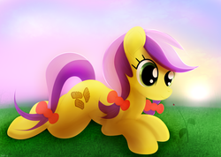 Size: 3034x2160   Tagged: safe, artist:startledflowerpony, lavender fritter, pony, prone, solo