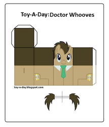 Size: 600x699 | Tagged: safe, artist:grapefruitface1, doctor whooves, time turner, pony, arts and crafts, craft, male, necktie, papercraft, printable, toy a day