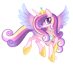 Size: 1333x1213 | Tagged: alternate design, artist:sugaryicecreammlp, pony, princess cadance, safe, simple background, solo, transparent background