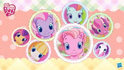Size: 1280x720 | Tagged: cheerilee (g3), cocotama, g3.5, logo, pinkie pie (g3), rainbow dash (g3), safe, scootaloo (g3), starsong, sweetie belle (g3), toola roola