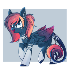 Size: 2300x2200 | Tagged: artist:cloud-fly, female, mare, oc, oc:kyrie, pegasus, pony, safe, solo