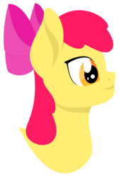 Size: 1742x2600 | Tagged: apple bloom, artist:alltimemine, bust, earth pony, fanfic, fanfic art, female, filly, foal, inkscape, lineless, pony, portrait, profile, safe, simple background, smiling, solo, transparent background, vector