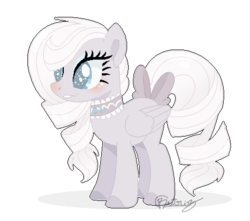 Size: 474x419 | Tagged: artist:6-fingers-lover, bow, female, magical lesbian spawn, mare, oc, oc only, oc:white diamond, offspring, parent:derpy hooves, parent:rarity, parents:derpity, pegasus, pony, safe, simple background, solo, tail bow, transparent background