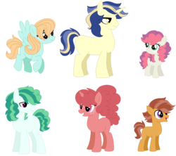 Size: 1046x930 | Tagged: safe, artist:kukakimon, oc, oc only, earth pony, pegasus, pony, unicorn, adoptable, base used, blank flank, crack ship offspring, female, freckles, magical gay spawn, magical lesbian spawn, male, mare, offspring, parent:apple bloom, parent:babs seed, parent:cheese sandwich, parent:donut joe, parent:flash sentry, parent:pinkie pie, parent:scootaloo, parent:shining armor, parent:sweetie belle, parent:vinyl scratch, parent:windy whistles, parent:zephyr breeze, parents:pinkiejoe, parents:scootababs, parents:shiningsentry, parents:sweetiebloom, parents:vinylsandwich, parents:zephyrwhistles, simple background, stallion, transparent background