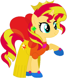 Size: 383x445 | Tagged: safe, artist:selenaede, artist:user15432, sunset shimmer, alicorn, fairy, fairy pony, pony, unicorn, alicornified, base used, clothes, costume, crown, dress, ear piercing, earring, fairy princess, fairy princess outfit, fairy wings, halloween, halloween costume, hasbro, hasbro studios, holiday, jewelry, piercing, princess costume, race swap, regalia, shoes, wings