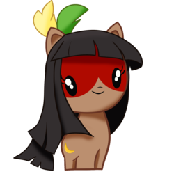 Size: 1500x1500 | Tagged: artist:archooves, bangs, brazil, brchan, chibi, face paint, nation ponies, native american, oc, oc:kuruminha, ponified, pony, safe, simple background, solo, transparent background