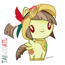 Size: 1500x1500 | Tagged: artist:archooves, aztec, cute, cutie mark crew, female, mare, mexico, nation ponies, oc, oc:tailcoatl, pegasus, ponified, pony, safe, simple background, solo, toy, transparent background