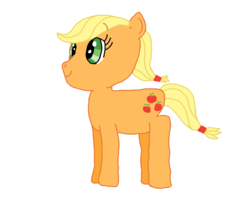 Size: 1004x808 | Tagged: applejack, artist:nightshadowmlp, digital art, earth pony, safe, simple background, smiling, solo, white background