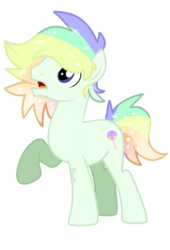 Size: 1080x1588 | Tagged: artist:onlineodd, base used, earth pony, male, multicolored hair, oc, oc:glitter glaze, pony, safe, solo, sparkles, stallion