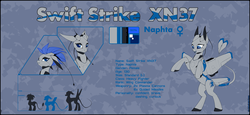 Size: 4120x1900 | Tagged: safe, artist:xn-d, oc, oc only, oc:swift strike, original species, plane pony, pony, ponymorph, robot, robot pony, fangs, female, open mouth, plane, rearing, reference sheet, text