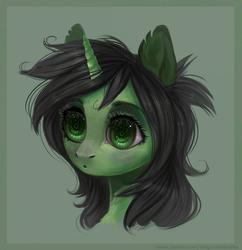 Size: 1280x1321 | Tagged: safe, artist:sarkarozka, color edit, edit, oc, oc:filly anon, pony, unicorn, colored, eye, eyes, face, female, filly, head, oh, realistic, the matrix