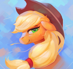 Size: 1100x1036 | Tagged: applejack, artist:rodrigues404, clothes, earth pony, female, freckles, hat, mare, pony, safe, smiling, solo