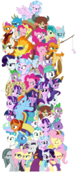 Size: 1719x3899 | Tagged: alicorn, alternate hairstyle, a matter of principals, applejack, appointed rounds, artist:sonofaskywalker, autumn blaze, chancellor neighsay, classical hippogriff, clothes, costume, dragon, faic, fake it 'til you make it, firelight, fishing rod, fluttershy, food, gallus, griffon, hippogriff, hipstershy, jack pot, mane six, marble pie, ocellus, pinkie pie, pizza, pony, princess celestia, rainbow dash, rainy day, rarity, safe, sandbar, school daze, schoolmarm rarity, school raze, scroll, season 8, silverstream, simple background, smolder, sounds of silence, spike, spitfire, starlight glimmer, stellar flare, student six, sunglasses, surf and/or turf, terramar, the end in friend, the hearth's warming club, the parent map, transparent background, twilight sparkle, twilight sparkle (alicorn), warriorshy, what lies beneath, winged spike, yona