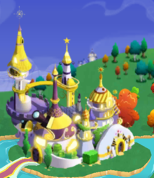 Size: 355x410 | Tagged: canterlot castle, gameloft, night, safe, scenery