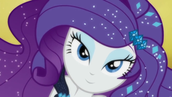 Size: 1280x720 | Tagged: safe, screencap, rarity, equestria girls, equestria girls series, the other side, adorasexy, beautiful, beautisexy, bedroom eyes, close-up, closeup on the face, clothes, cute, dress, eyeshadow, fabulous, female, lidded eyes, looking at you, makeup, sexy, smiling, solo