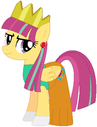 Size: 315x410 | Tagged: safe, artist:firestarartist, artist:user15432, sour sweet, pegasus, pony, equestria girls, base used, clothes, costume, crown, dress, ear piercing, earring, equestria girls ponified, female, gloves, gown, halloween, halloween costume, hasbro, hasbro studios, holiday, jewelry, piercing, ponified, princess, princess costume, princess crown, regalia, simple background, solo, white background