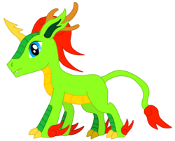 Size: 2039x1648 | Tagged: artist:cryoflaredraco, kirin, oc, oc only, safe, simple background, solo, transparent background