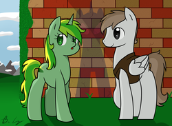 Size: 1573x1149 | Tagged: artist:cloureed, oc, oc:meadow dawn, oc:silver wing, safe