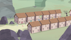 Size: 1440x809 | Tagged: safe, screencap, pony, the cutie map, background pony, house, our town, tree, village