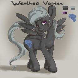 Size: 3840x3840 | Tagged: safe, artist:twilightsquare, oc, oc only, oc:weather vortex, pegasus, pony, design, female, solo