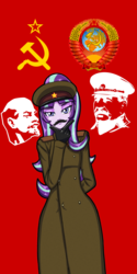 Size: 2000x4000 | Tagged: safe, artist:artemis-polara, edit, vector edit, starlight glimmer, human, equestria girls, bald, banner, beard, clothes, coat, communism, costume, crops, cyrillic, earth, emblem, facial hair, fake moustache, female, flag, globe, gloves, hammer, hammer and sickle, hat, high res, josef stalin, male, moustache, propaganda, sickle, simple background, solo, soviet union, stalin glimmer, stars, text, transparent background, vector, vladimir lenin, wall of tags