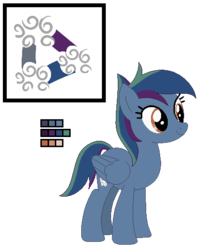Size: 416x520 | Tagged: safe, artist:awoomarblesoda, oc, oc:cloud storm, pegasus, pony, female, mare, offspring, parent:rainbow dash, parent:soarin', parents:soarindash, reference sheet, simple background, solo, transparent background