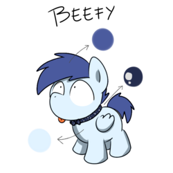 Size: 1280x1280 | Tagged: safe, artist:sugar morning, oc, oc only, oc:beefy, dog pony, pegasus, pony, :p, bowtie, collar, colt, cute, looking up, male, reference sheet, silly, simple background, solo, tongue out, transparent background, weapons-grade cute, wide eyes