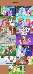 Size: 1760x3958 | Tagged: a flurry of emotions, alicorn, all bottled up, apple bloom, applejack, a royal problem, artist:nightshadowmlp, bow hothoof, buttercup, camera, celestial advice, cloud, clown wig, cup, cute, cutie mark crusaders, dandy grandeur, discord, discordant harmony, earth pony, edit, edited screencap, female, fence, filly, fluttershy, fluttershy leans in, food, forever filly, hard hat (character), hard to say anything, hat, helmet, honest apple, house, maud pie, mining helmet, mlp season compilation, not asking for trouble, parental glideance, pearabetes, pear butter, pegasus, pinkie pie, pirate hat, pony, prince rutherford, princess cadance, princess celestia, princess luna, rarity, rock solid friendship, saddle bag, safe, scootaloo, screencap, season 7, season 7 compilation, shining armor, spearhead, spike, starlight glimmer, strawberry sunrise, sweetie belle, tea, teacup, the perfect pear, train, trixie, twilight sparkle, twilight sparkle (alicorn), unicorn, vision board, wall of tags, window, windy whistles, wrangler