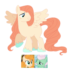 Size: 739x697 | Tagged: safe, artist:andy-hazards, gentle breeze, pear butter, oc, pegasus, pony, base used, blank flank, colored hooves, female, freckles, gentlepear, long mane, long tail, male, offspring, parent swap au, parent:gentle breeze, parent:pear butter, parents:gentlepear, raised hoof, shipping, simple background, solo, spread wings, stallion, straight, transparent background, unshorn fetlocks, wings