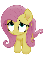 Size: 2480x3508   Tagged: safe, artist:phucknuckl, fluttershy, pegasus, pony, my little pony: the movie, background removed, cute, female, i'm the friend you need, looking at you, looking up, mare, scared, shyabetes, simple background, solo, transparent background, vector