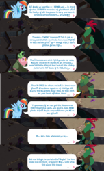 Size: 1280x2104 | Tagged: boyle, dialogue, gameloft, lix spittle, mullet (character), my little pony: the movie, parrot pirates, pirate, rainbow dash, safe