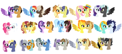 Size: 1651x730 | Tagged: safe, artist:xxwerecatdipperxx, applejack, braeburn, caramel, cheerilee, comet tail, daring do, derpy hooves, doctor caballeron, donut joe, double diamond, dumbbell, feather bangs, flam, fluttershy, lightning dust, limestone pie, marble pie, maud pie, mudbriar, pinkie pie, pokey pierce, quibble pants, rainbow dash, rarity, rockhoof, soarin', spitfire, star tracker, starlight glimmer, sunset shimmer, thunderlane, trixie, trouble shoes, twilight sparkle, alicorn, pony, caraglimmer, cheeritracker, cometjack, daballeron, derpydonut, doublepinkie, dumbdash, female, flutterflam, layering fail, limehoof, male, marblepierce, maudbriar, quibblelight, rarilane, shipping, soarindust, spitbangs, straight, sunburn (shipping), trixieshoes, twilight sparkle (alicorn)