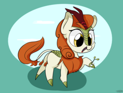 Size: 3043x2297 | Tagged: safe, artist:taurson, autumn blaze, kirin, sounds of silence, autumn blaze's puppet, awwtumn blaze, cloven hooves, cute, female, leonine tail, shadow, solo
