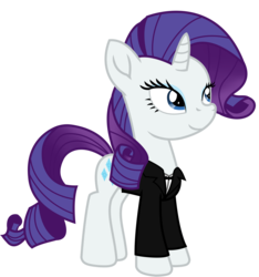 Size: 6758x7225 | Tagged: absurd res, artist:ejlightning007arts, clothes, costume, halloween, halloween costume, james bond, rarity, safe, simple background, solo, transparent background