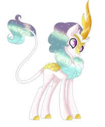 Size: 1024x1240 | Tagged: safe, artist:solomonbunny, oc, oc only, oc:scale, kirin, cloven hooves, colored hooves, gradient mane, kirin oc, simple background, solo, transparent background