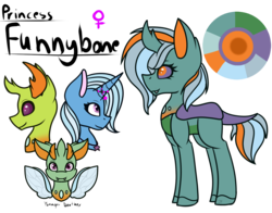 Size: 1400x1100 | Tagged: artist:serenea-artz, changedling, changeling, changepony, female, hybrid, interspecies offspring, king thorax, male, oc, offspring, parents:thoraxie, parent:thorax, parent:trixie, safe, shipping, simple background, straight, thorax, thoraxie, transparent background, trixie