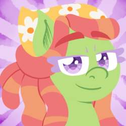 Size: 550x550 | Tagged: safe, artist:alittleofsomething, tree hugger, earth pony, pony, bust, female, lineless, mare, portrait, solo
