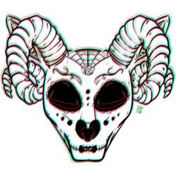 Size: 1280x1280 | Tagged: safe, artist:charrez, oc, deer, horns, makeup, markings, solo