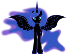 Size: 6610x4975 | Tagged: safe, artist:emu34b, nightmare moon, alicorn, absurd resolution, missing accessory, simple background, solo, transparent background, vector, wings