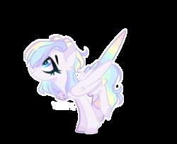 Size: 1086x888   Tagged: safe, artist:iheyyasyfox, artist:kahootkin, oc, oc:rainy, pegasus, pony, base used, female, mare, simple background, solo, transparent background