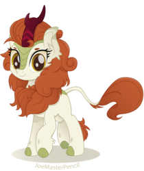 Size: 7400x8800   Tagged: safe, artist:joemasterpencil, autumn blaze, kirin, sounds of silence, absurd resolution, cloven hooves, female, movie accurate, simple background, smiling, solo, transparent background, vector