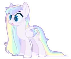 Size: 1024x856   Tagged: safe, artist:m-00nlight, oc, oc only, oc:rainy, pegasus, pony, colored wings, female, mare, simple background, solo, transparent background