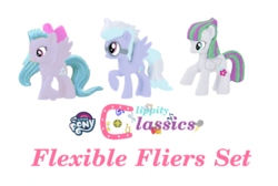 Size: 635x426 | Tagged: blind bag, blossomforth, cloudchaser, flitter, safe, toy, toy edit