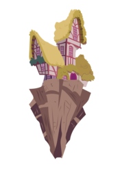 Size: 700x1000 | Tagged: safe, artist:flutterguy317, .svg available, building, chaos, chaos is magic, floating island, house, no pony, simple background, transparent background, vector