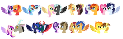 Size: 1808x588 | Tagged: safe, artist:xxwerecatdipperxx, applejack, big macintosh, braeburn, discord, doctor whooves, flash sentry, fluttershy, pharynx, pinkie pie, princess cadance, princess luna, rainbow dash, rarity, shining armor, soarin', spitfire, starlight glimmer, sunburst, sunset shimmer, thunderlane, time turner, trouble shoes, twilight sparkle, alicorn, changedling, changeling, pony, crack shipping, discodance, doctorglimmer, female, flashimmer, infidelity, lunarynx, male, prince pharynx, rariburst, shiningdash, shipping, soarinpie, spitburn, straight, thundershy, troublejack, twilight sparkle (alicorn), twimac