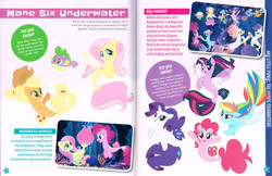 Size: 4250x2750   Tagged: safe, applejack, fluttershy, haven bay, pinkie pie, princess skystar, queen novo, rainbow dash, rarity, salina blue, spike, twilight sparkle, alicorn, pony, puffer fish, seapony (g4), my little pony: character guide, my little pony: the movie, official, female, male, mane seven, mane six, mare, scan, scanned, seaponified, seapony applejack, seapony fluttershy, seapony pinkie pie, seapony rainbow dash, seapony rarity, seapony twilight, species swap, spike the pufferfish, twilight sparkle (alicorn)
