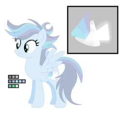 Size: 539x511 | Tagged: artist:awoomarblesoda, base used, color palette, cutie mark, female, mare, oc, oc:prismatic, offspring, parent:rainbow dash, parent:soarin', parents:soarindash, pegasus, reference sheet, safe, solo